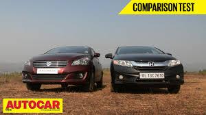 honda car comparison 2014 maruti suzuki ciaz vs honda city comparison test autocar