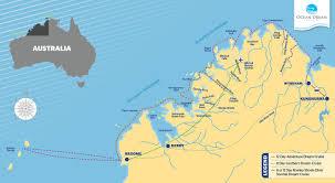Southern Ocean Map 8 Day Kimberley Cruise Kimberley Cruises 2017 Ocean Dream Charters