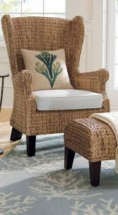 Pier One Chairs Dining Furniture Fabulous Indoor Wicker Chair Wicker Wingback Chair