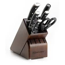 wusthof classic ikon 7 piece walnut block knife set 8347 33 j l