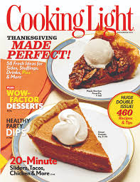 cooking light thanksgiving menu the bitten word thanksgiving 2011 trends in food magazines pies