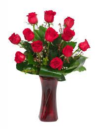 Long Stem Rose Vase Signature Long Dozen Roses With Red Vase Rose U0026 Blossom