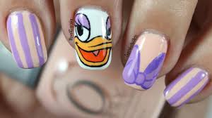disney nail art daisy duck youtube