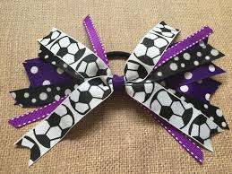 in hair bow custom team colors hair ties hair bow