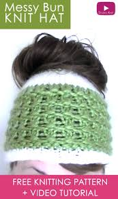 how to knit a messy bun hat in 7 easy steps studio knit