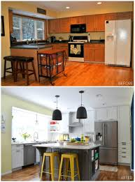 Kitchen Cabinets Before And After Kitchen Makeover Reveal Before And After Kitchen Renovation With