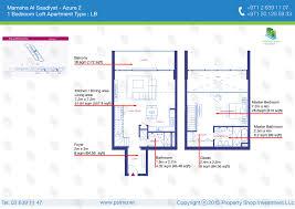 The Azure Floor Plan by Floor Plans Mamsha Al Saadiyat U2013 Saadiyat Island