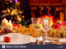 Table Setting Images by A Romantic Christmas Dinner Table Setting With Candles And