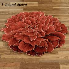 Round Red Rug Flower Shaped Rugs Creative Rugs Decoration