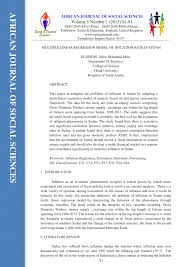 multiple linear regression model of inflation rate in sudan pdf multiple linear regression model of inflation rate in sudan pdf download available