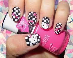 easy nail art characters 12 modern checkered nail art designs checkered nails and nail nail