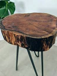 tree trunk bedside table log plant stand log slice plant stand tree wood slab table tree
