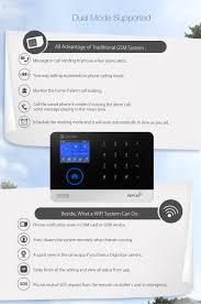 digoo dg hosa 433mhz wireless gsm u0026wifi diy smart home security