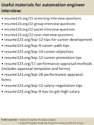 Resume Summary Examples Engineering by Top 8 Automation Engineer Resume Samples