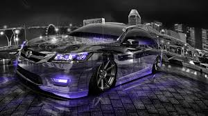 honda accord jdm honda accord jdm tuning crystal city night car 2016 wallpapers 4k