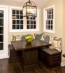 A Great Way To Have The Luxury Or Table Seating With Minimizing - Bench style kitchen table
