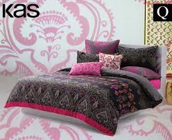 kas evita queen bed quilt cover set multi ebay