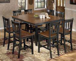 dining room furnature counter height square dining table with concept hd photos 28245