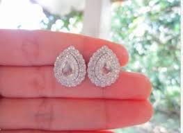 diamond earrings philippines 2 21 carat cut brilliant diamonds white gold earrings 14k