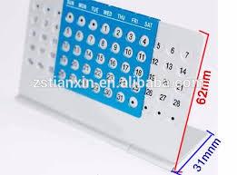 calendrier de bureau personnalisé pas cher logo personnalisé pas cher en aluminium perpétuel calendrier de
