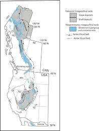 Map Of Western Us Geometry Of The Neoproterozoic And Paleozoic Rift Margin Of