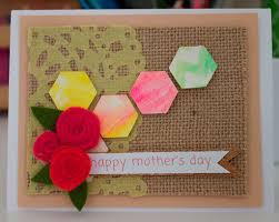 mixed media mother u0027s day card