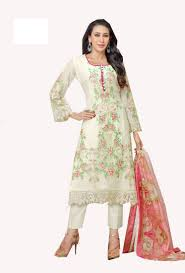 Pink Colour Combination Dresses by Buy Pashimo Women U0027s White N Pink Color Combo Set Of 2 Salwar Suit