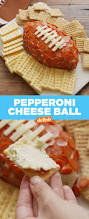 thanksgiving cheese ball pepperoni football recipe u2014delish com