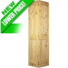 Wooden Bifold Doors Interior Discount 2 Panel Arch Knotty Pine Interior Wood Bifold Doors