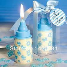 baby shower candle favors blue baby bottle candle favors baby shower wedding favors party