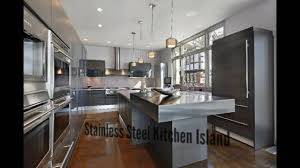 stainless steel kitchen island large kitchen island youtube