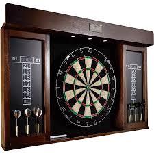 best dart board cabinet barrington 40 inch dartboard cabinet with led light walmart com