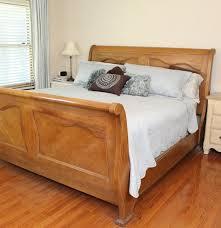 king size oak sleigh bed frame ebth
