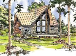 Log Cabin Design Plans by Log Cabin With Two Wings 72320da Architectural Designs House