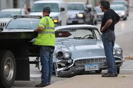 just corvette just restored 1961 corvette crashes into car on test drive