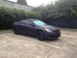 nissan altima black altima coupe 2011 plastidipped matte black nissan forums