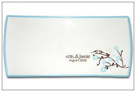 personalized wedding platter bird cherry blossom wedding signature platter
