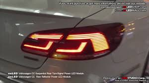 2011 vw cc led tail lights exled volkswagen cc sequential rear turn signal power led module