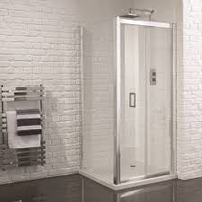 900 Bifold Shower Door by Aquadart Venturi 6 Frameless Bifold Shower Door 900mm