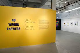 exhibition presentation of a new the studio of chad kouri u203a no wrong answers paper paintings