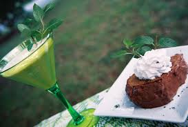 chocolate mint martini dessert in a glass chocolate mint pound cake martini