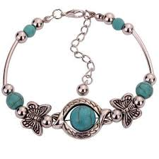 tibetan silver turquoise necklace images Women s retro tibetan silver turquoise bracelet jpg