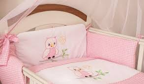 Baby Cot Bedding Sets 3 Pcs Baby Cot Cot Bed Bumper Set Duvet Cover Pillowcase Owl