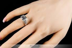 tisha art deco tension set round cut engagement ring 5 5 carat