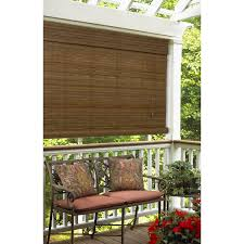 Cheap Outdoor Bamboo Roll Up Shades by Exterior Brown Bamboo Roll Up Window Blind Hanging On Wooden Deck