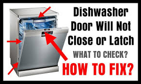Fisher And Paykel Nautilus Dishwasher Manual Dishwasher Door Will Not Close Or Latch How To Fix