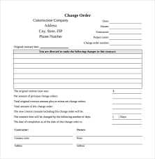 Change Order Template Excel Sle Change Order Template 10 Free Documents In Pdf Word