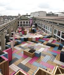 Wooden Bench Seat Designs by Deck Design Ideas This Rooftop Deck Received A Colorful Modern