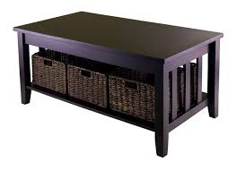 bedroom excellent coffee table storage baskets ideas inspiration