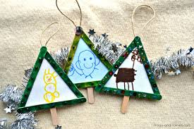 popsicle stick tree ornaments frogs and fairies